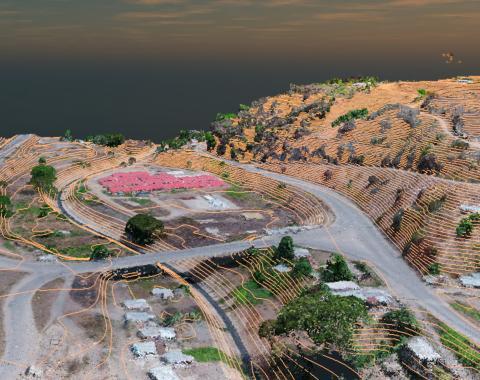 imagen 3d alzamiento topografico murcia granada